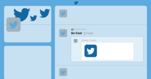 Twitter ad template