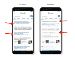 mobile search results example