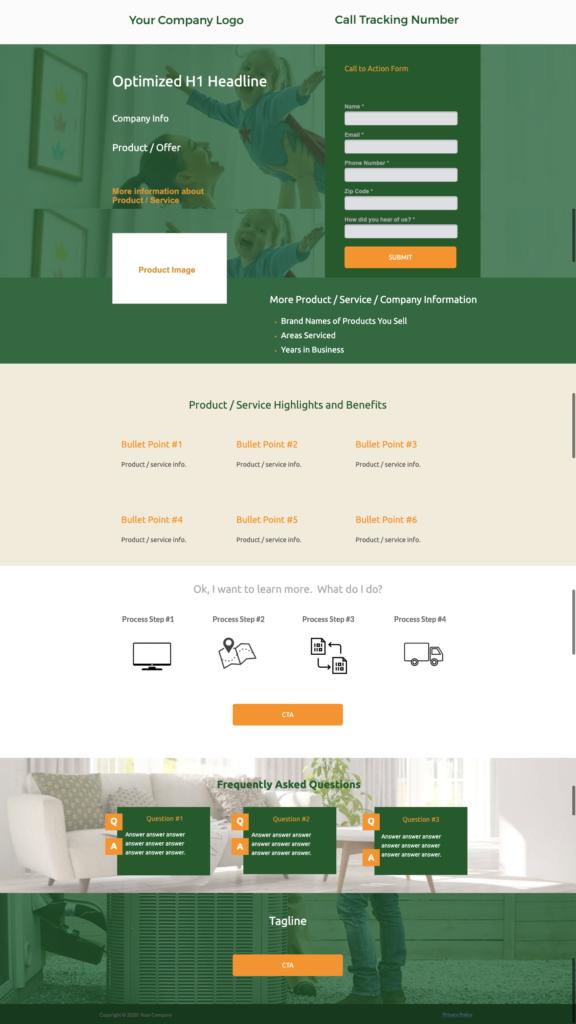 Optimized Landing Page Sample