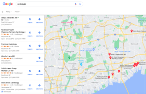 Expanded map view