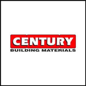 century building materials logo with border