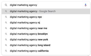 keyword search result