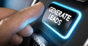 "Glowing ""Generate Leads"" button"