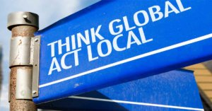 """""""Act Local"""" Sign"""