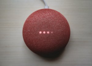 red smart device